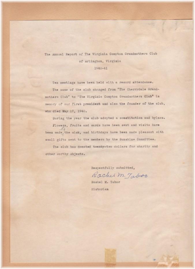report 1940 1941 rachel tabor change t virginia compton