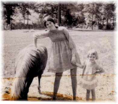 Copy of 1968X cherie and unknown with pony