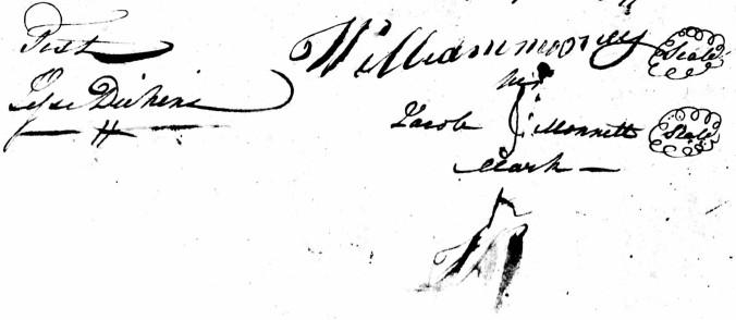 Copy of money cooper marriage 1799 mark of Monnett jacob