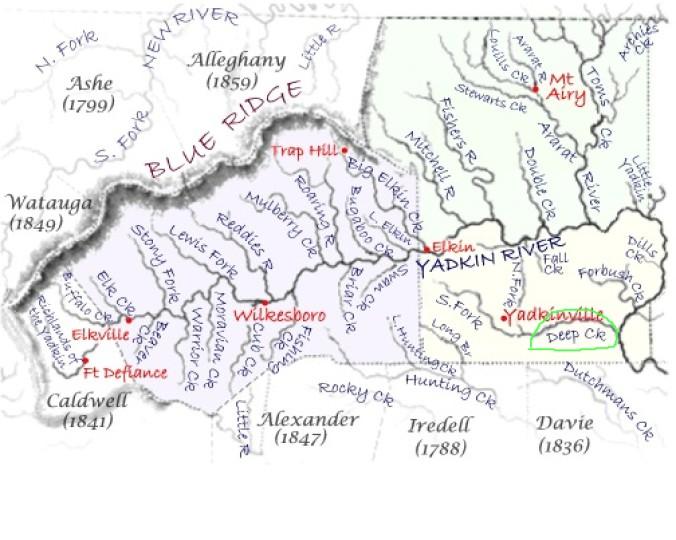yadkin river valley