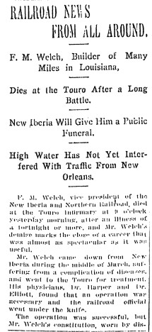 welch frank obit apr 1912 top
