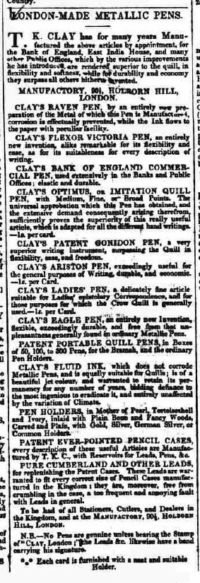 Copy of pens clay 1839 print blog