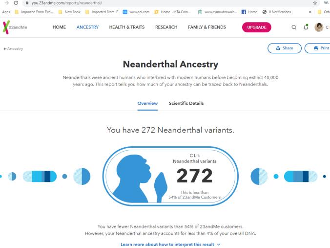 1 cherie neanderthal variants 23andme